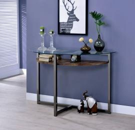 McMurray by Furniture of America Black Chrome CM4845S Sofa Table