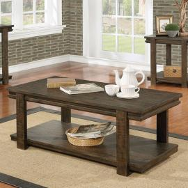 Gijon by Furniture of America Walnut CM4866C Coffee Table