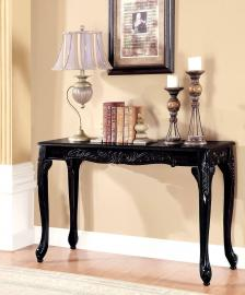 Cheshire Black Finish by Furniture of America  Collection CM4914BK-S Sofa Table