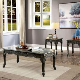 Chesire Gray by Furniture of America Collection CM4914GY-3PK 3 PC Coffee Table Set