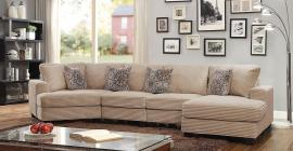 Amelia Beige Corduroy Fabric Sectional CM6372 by Furniture of America