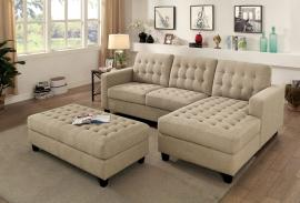 Norma Deep Tufted Sectional with Ottoman CM6440 by Furniture of America