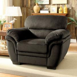 Jaya Dark Brown Padded Microfiber Fabric Chair CM6503DB-CH by Furniture of America