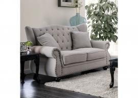Ewloe Light Gray Fabric Loveseat CM6572GY-LV by Furniture of America