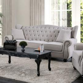 Ewloe Light Gray Fabric Sofa CM6572GY-SF by Furniture of America