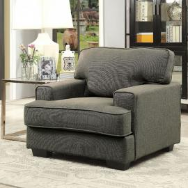 Fay Gray Linen-Fabric Chair CM6591-CH by Furniture of America