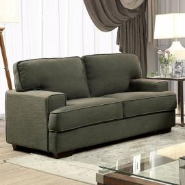 Fay Gray Linen-Fabric Loveseat CM6591-LV by Furniture of America-12967