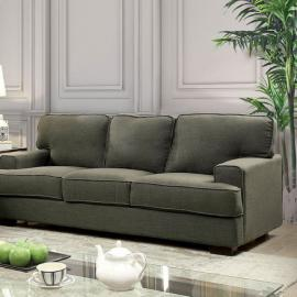 Fay Gray Linen-Fabric Sofa CM6591-SF by Furniture of America