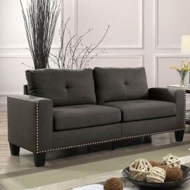 Attwell Gray Linen-Fabric Sofa CM6594-SF by Furniture of America