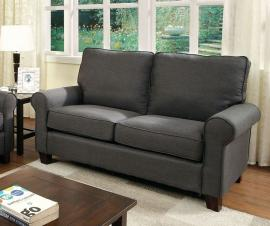 Hensel Gray Linen-Fabric Loveseat CM6760GY-LV by Furniture of America