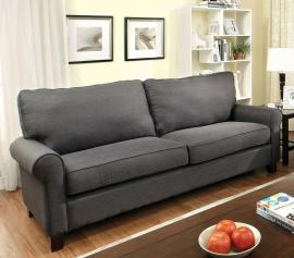 Hensel Gray Linen-Fabric Sofa CM6760GY-SF by Furniture of America