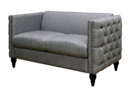 Emer Gray Linen-Fabric Loveseat CM6780GY-LV by Furniture of America