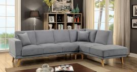 Hagen 6799GR Grey Mid Century Sectional