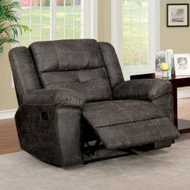 Chichester Dark Brown Fabric Recliner CM6943-CH by Furniture of America