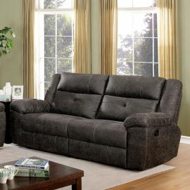 Chichester Dark Brown Fabric Reclining Loveseat CM6943-LV by Furniture of America