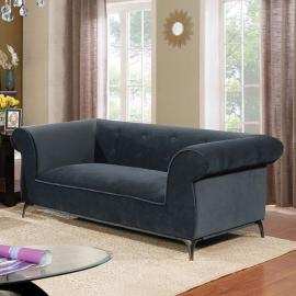 Gresford Gray Fabric Loveseat CM6952-LV by Furniture of America