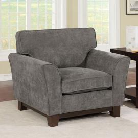 Caldicot Gray Fabric Chair CM6954GY-CH by Furniture of America