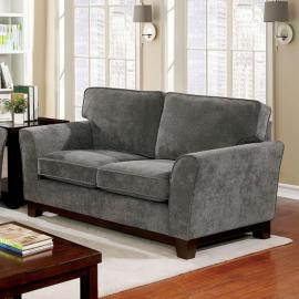Caldicot Gray Fabric Loveseat Sofa CM6954GY-LV by Furniture of America