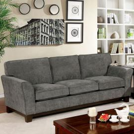 Caldicot Gray Fabric Gray Sofa CM6954GY-SF by Furniture of America