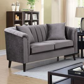 Dawn Gray Fabric Loveseat CM6955-LV by Furniture of America