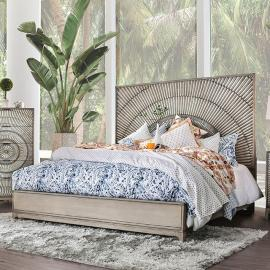 Kamalah Antique Gray Finish California King Bed CM7521CK by Furniture of America