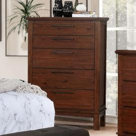 Knighton Brown Cherry Finish Chest CM7528C by Furniture of America