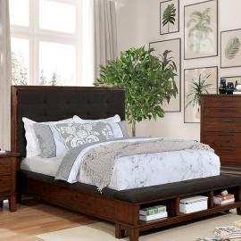 Knighton Brown Cherry Finish California King Bed CM7528CK by Furniture of America