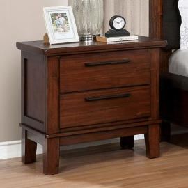 Knighton Brown Cherry Finish Night Stand CM7528N by Furniture of America