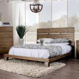 Tolna Walnut Finish California King Bed CM7532CK by Furniture of America