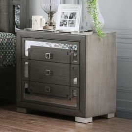 Jeanine Gray Finish Night Stand CM7534N by Furniture of America