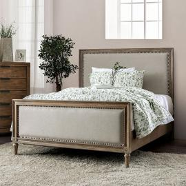 Janiya Beige & Rustic Natural Tone Finish Queen Bed CM7535Q by Furniture of America