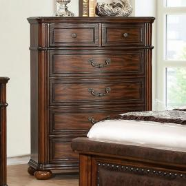 Janiya Brown Cherry Finish Chest CM7539C by Furniture of America