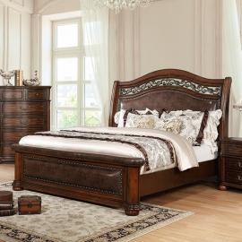 Janiya Brown Cherry Finish California King Bed CM7539CK by Furniture of America