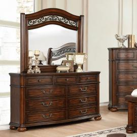 Janiya Brown Cherry Finish Dresser CM7539D by Furniture of America