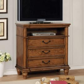 Mantador Light Oak Finish Media Chest CM7542TV by Furniture of America