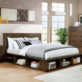 Torino Walnut Finish California King Bed CM7543CK by Furniture of America