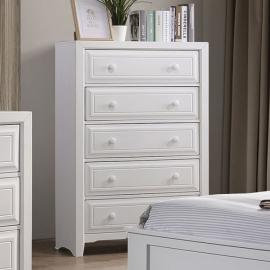 Kirsten White Finish Chest CM7547WH-C by Furniture of America