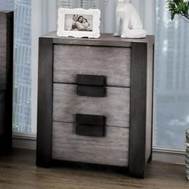 Janeiro Gray Finish Night Stand CM7628GYN by Furniture of America