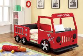 Rescuer Collection 7767 Twin Fire Truck Bed Frame