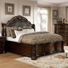Niketas Brown Cherry Finish California King Bed CM7860CK by Furniture of America