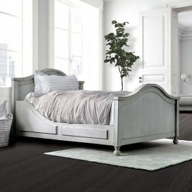 Lovis Antique White Finish Full Bed CM7865F by Furniture of America