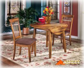 D199-15 Berringer by Ashley Round DRM Drop Leaf Table