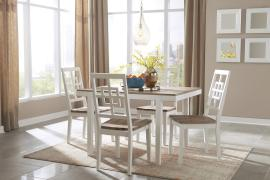 Ashley - Brovada (D298-225) Casual Two Tone 5pc. Dining Table Set