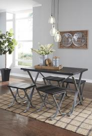 D321-225 Elistree by Ashley Rectangular Dining Room Table With Chairs 5/CN