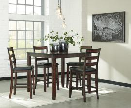 Ashley - Coviar (D385-223) Brown 5pc. Counter Dining Table Set