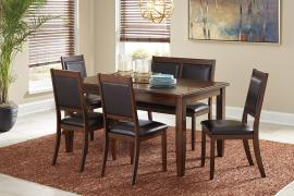 Ashley - Meredy (D395-325) Brown 6pc. Dining Table Set