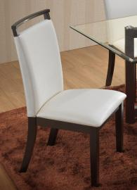 Natasha D3972-21WH Cappucino/White Dining Height Chair Set of 2