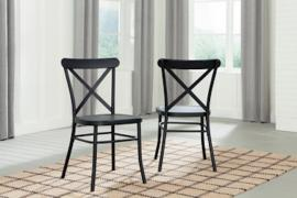 Ashley D400-102 Minnona Dining Chair Set of 2 in Black