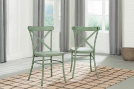 Ashley D400-104 Minnona Dining Chair Set of 2 in Light Green