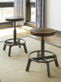 Ashley D440-024 Torjin Adjustable Barstool Set of 2 Brown / Grey